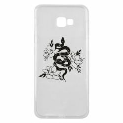 Чохол для Samsung J4 Plus 2018 Snake with flowers