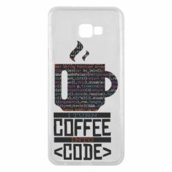 Чохол для Samsung J4 Plus 2018 Сoffee code
