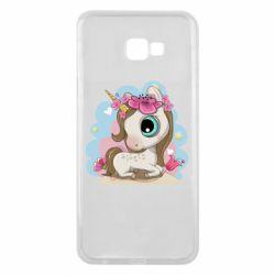 Чохол для Samsung J4 Plus 2018 Unicorn with flowers