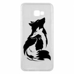 Чехол для Samsung J4 Plus 2018 Wolf And Fox