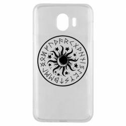 Чохол для Samsung J4 Sun in runes