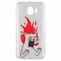 Чохол для Samsung J4 The cat is mad