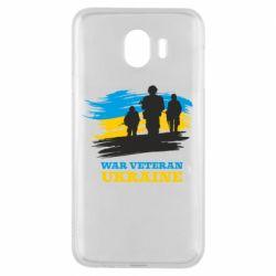 Чохол для Samsung J4 War veteran оf Ukraine