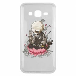 Чехол для Samsung J5 2015 A skeleton sitting on a lotus