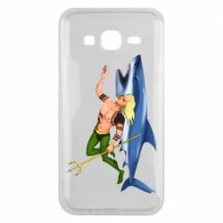 Чехол для Samsung J5 2015 Aquaman with a shark