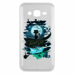Чехол для Samsung J5 2015 Black cat art