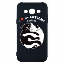 Чехол для Samsung J5 2015 Cats and love
