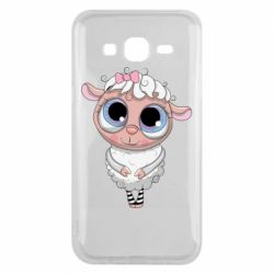 Чехол для Samsung J5 2015 Cute lamb with big eyes