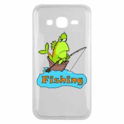 Чехол для Samsung J5 2015 Fish Fishing