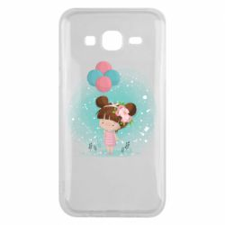 Чехол для Samsung J5 2015 Girl with balloons