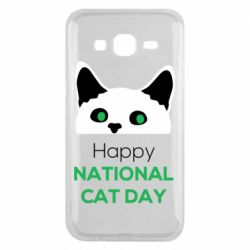 Чехол для Samsung J5 2015 Happy National Cat Day