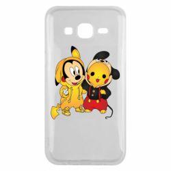 Чехол для Samsung J5 2015 Mickey and Pikachu