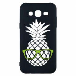 Чехол для Samsung J5 2015 Pineapple with glasses
