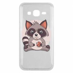 Чохол для Samsung J5 2015 Raccoon with cookies