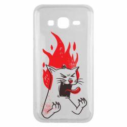 Чохол для Samsung J5 2015 The cat is mad