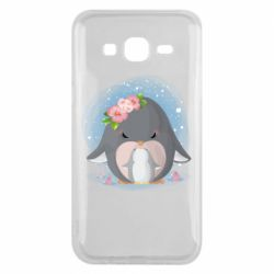 Чехол для Samsung J5 2015 Two cute penguins