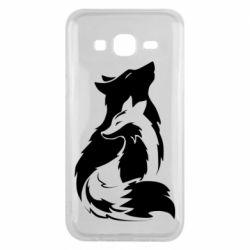 Чехол для Samsung J5 2015 Wolf And Fox