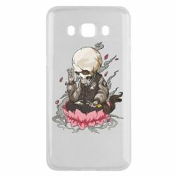 Чехол для Samsung J5 2016 A skeleton sitting on a lotus