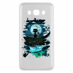 Чехол для Samsung J5 2016 Black cat art