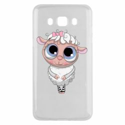 Чехол для Samsung J5 2016 Cute lamb with big eyes