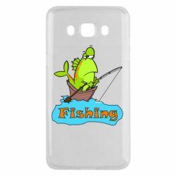 Чехол для Samsung J5 2016 Fish Fishing