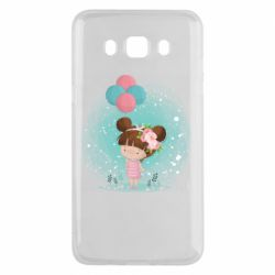 Чехол для Samsung J5 2016 Girl with balloons