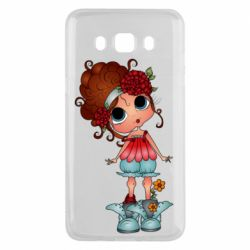 Чехол для Samsung J5 2016 Girl with big eyes