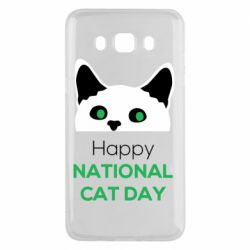 Чехол для Samsung J5 2016 Happy National Cat Day