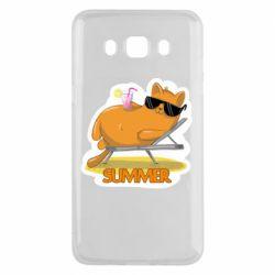 Чохол для Samsung J5 2016 Котик на пляжі