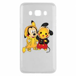 Чехол для Samsung J5 2016 Mickey and Pikachu