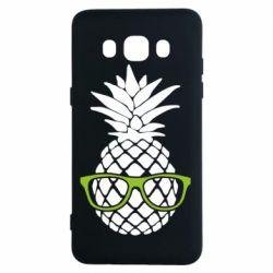 Чехол для Samsung J5 2016 Pineapple with glasses