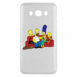 Чехол для Samsung J5 2016 Simpsons At Home