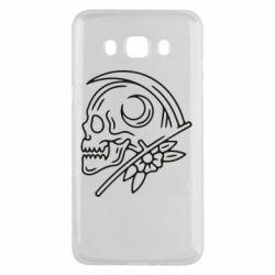 Чохол для Samsung J5 2016 Skull with scythe