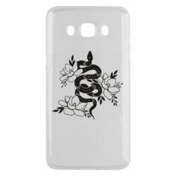 Чохол для Samsung J5 2016 Snake with flowers