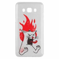 Чохол для Samsung J5 2016 The cat is mad