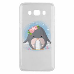 Чехол для Samsung J5 2016 Two cute penguins