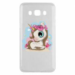 Чохол для Samsung J5 2016 Unicorn with flowers