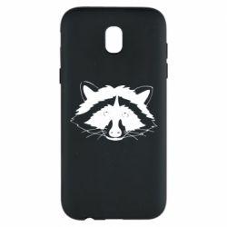 Чохол для Samsung J5 2017 Cute raccoon face
