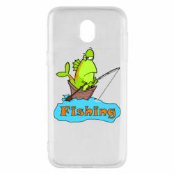 Чехол для Samsung J5 2017 Fish Fishing
