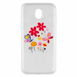 Чехол для Samsung J5 2017 Flowers and Butterflies