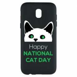 Чехол для Samsung J5 2017 Happy National Cat Day