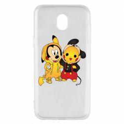 Чехол для Samsung J5 2017 Mickey and Pikachu