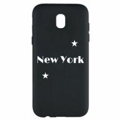 Чехол для Samsung J5 2017 New York and stars