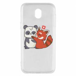 Чохол для Samsung J5 2017 Panda and fire panda