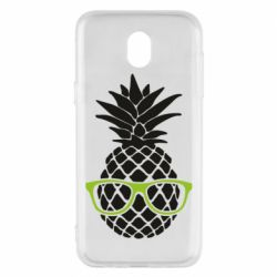 Чехол для Samsung J5 2017 Pineapple with glasses