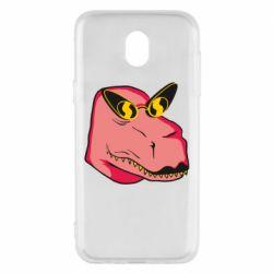Чохол для Samsung J5 2017 Pink dinosaur with glasses head