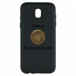 Чохол для Samsung J5 2017 Toss a coin to your witcher ( орен )
