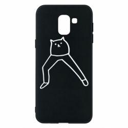 Чохол для Samsung J6 Cat in pants