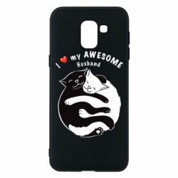 Чехол для Samsung J6 Cats and love