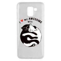 Чехол для Samsung J6 Cats with a smile
